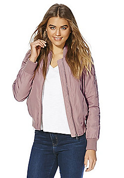 F&F Padded Bomber Jacket - Dusty pink