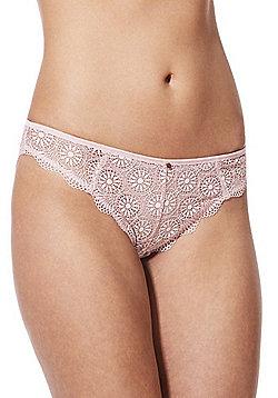 F&F Signature Brooke Circle Lace Brazilian Briefs - Blush pink