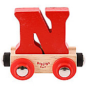 Bigjigs Rail Rail Name Letter N (Red)