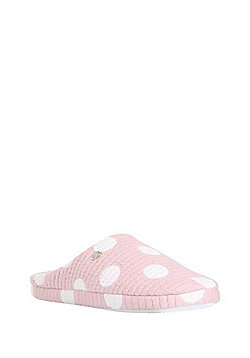 F&F Padded Oversized Spot Mule Slippers - Pink