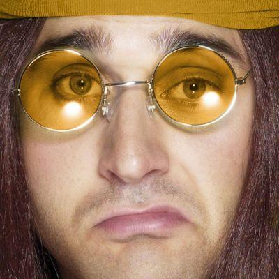 Bristol Novelty - Round Glasses - Orange