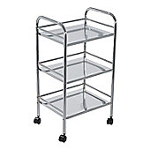 Lucy 3-Tier Trolley - Chrome
