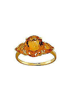 QP Jewellers 3.50ct Citrine Vogue Ring in 14K Gold