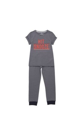F&F Hit Snooze Pyjamas Navy 6-7 years