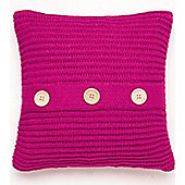 Catherine Lansfield Chunky Knit Raspberry Cushion Cover - 43x43cm