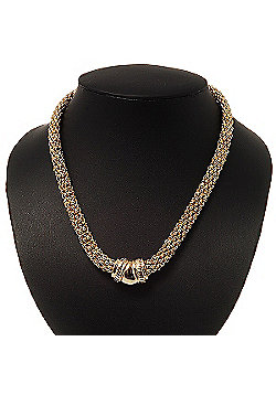 Gold Plated Mesh Magnetic Choker Necklace - 42cm length