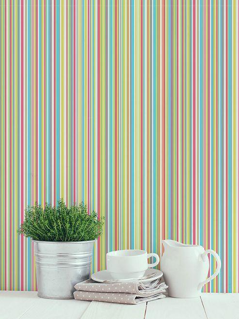 Martez Stripe Wallpaper Zing Coloroll M0647