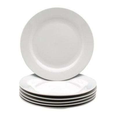 White Wide Rimmed Dessert / Small Dinner Plate 190mm (7.5