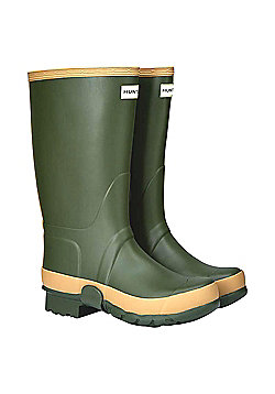 Hunter Mens Field Tall Gardener Wellies - Dark green