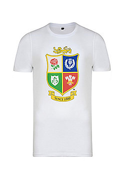 British & Irish Lions Kids Logo T-shirt - White - White