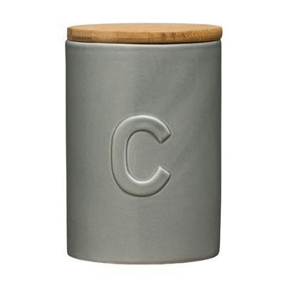 Premier Housewares Fenwick Coffee Canister, Light Grey