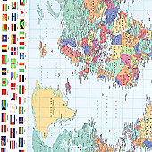 Gift Wrap - World Map