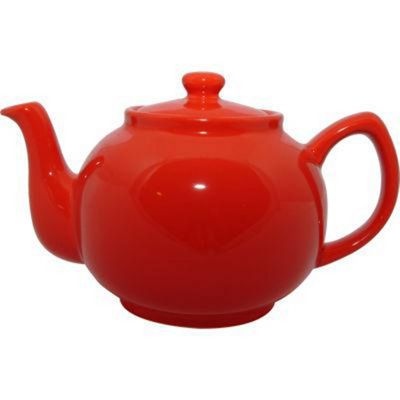 Price & Kensington Brights Six-Cup Teapot Coral Red
