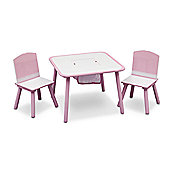 Delta Children Table and Chair Set White Pink