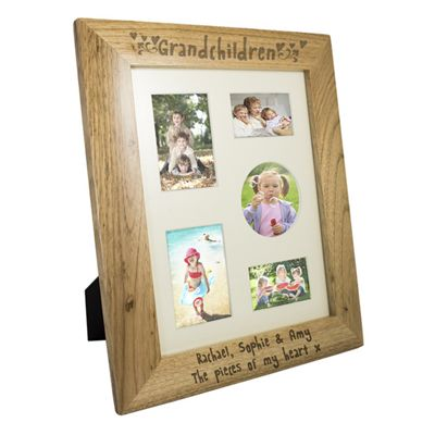 Buy Personalised Grandchildren Wooden Multi Photo Frame from our All ...