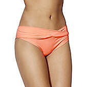 F&F Twist Front Fold-Over Bikini Briefs - Peach