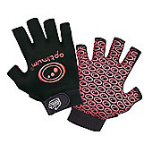 Optimum Stik Mit Rugby Gloves Black / Red - Black