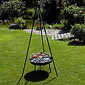 "Garden Kraft 20"" Inch Tripod BBQ Grill And Firepit In Black"