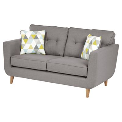 Sienna Button Back Large 3 Seater Sofa, Light Grey