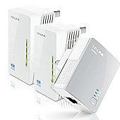 TP-LINK AV500 TL-WPA4220T 300Mbps Powerline Universal WiFi Range Extender with 2 Ethernet Ports (Network Kit)
