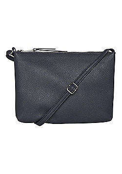 F&F Grained Cross-Body Bag Navy One Size