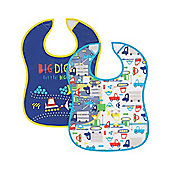 B Baby's Transport Crumbcatcher Bibs- 2 Pack