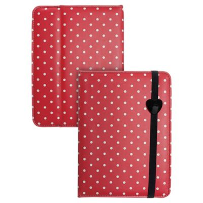 Trendz Kindle Fire HD Red Polka Dot Case