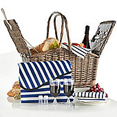 VonShef 2 Person Folding Handle Picnic Basket