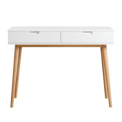Tretton Solid Oak Console Table