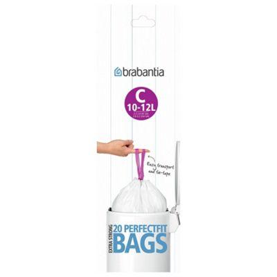 Brabantia Bin Liner C ,10 to 12 Litre, 20 Bags