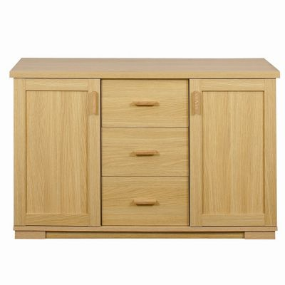 Caxton Huxley 2 Door / 3 Drawer Sideboard in Light Oak