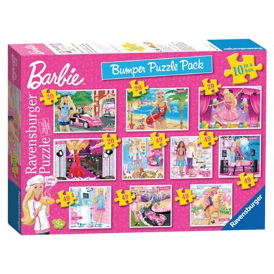 Barbie 10 in 1 Jigsaw Jigsaw Puzzle