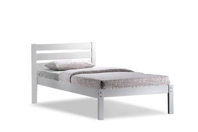 Eco White Wooden Single Bed Frame