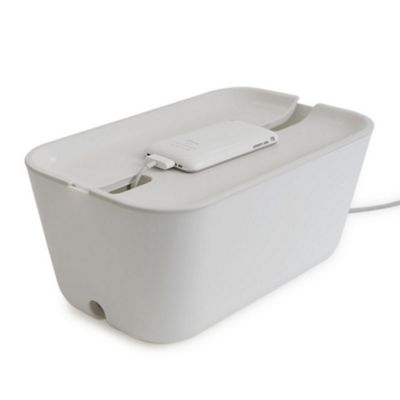 Bosign Hideaway White Cable Management Box Medium Size with White Lid 30x18x13.8cm