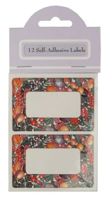 Traditional Fruit Design Self Adhesive Labels, Pack of 12