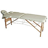 Homcom Portable Massage Table Bed Foldable - Cream