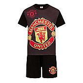 Manchester United FC Boys Short Pyjamas - Black