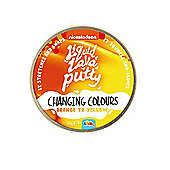 Nickelodeon Liquid Lava Putty Changing Colour Orange to Yellow