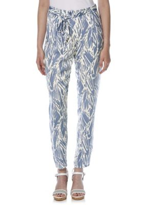 First & I Abstract Print Trousers L Blue