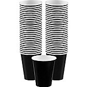 Black Cups - 340ml Paper Coffee Cups - 40 Pack
