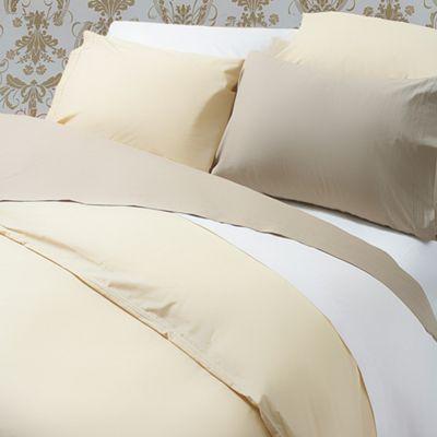Belledorm 200 Thread Count Polycotton White Flat Sheet - King