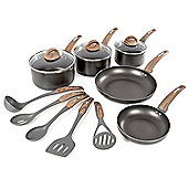 Tower 5pce Non-Stick Pan Set with 5 Piece Utensil Set - Black