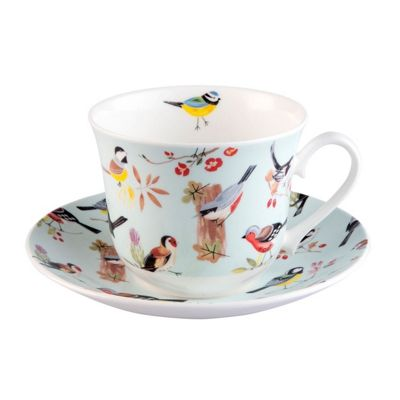 Roy Kirkham RSPB Nature's Way Birdsong Jumbo Breakfast Cup and Saucer XRSPBBRB1100GBOXED