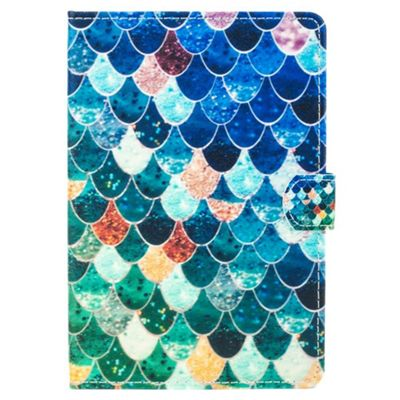 iPad Mini 1 / 2 / 3 Glittery Mermaid Scales Cover Case - Multicoloured