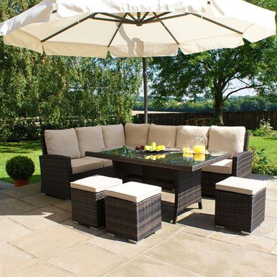 Rattan Garden Furniture Tesco buy maze rattan - kingston corner sofa dining set - brown from our