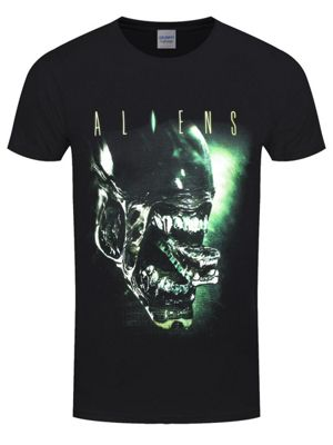 Alien Head Men's Black T-shirt