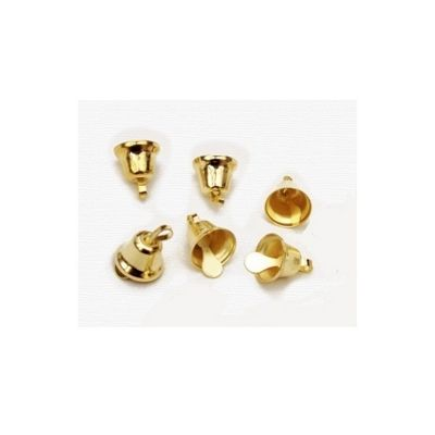 Craft Factory Gold Liberty Bells 11mm Pack of 100