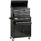 VonHaus Tool Chest & Cabinet - Black