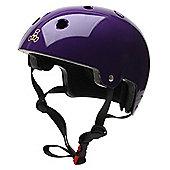 Triple 8 Brainsaver Dual Certified Helmet Purple Glossy - Small - Medium 55 - 58cm