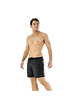 "Speedo Mens Solid Quick Drying Leisure 16"" Water Shorts S M L XL XXL - Black"